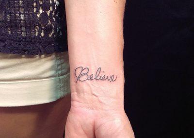 Believe - wrist