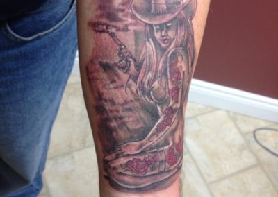 tattooed-cowgirl forearm