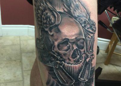 skull leg